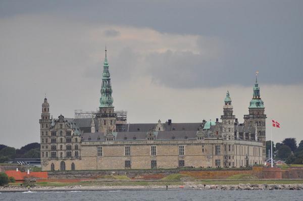 Zamek w Helsingor, Dania.