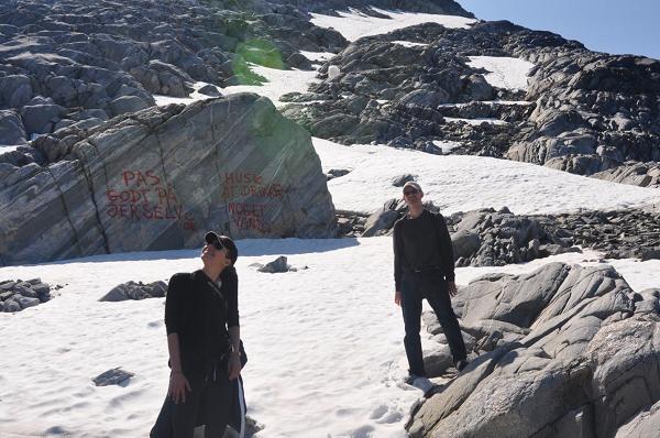 Na wycieczce z Nuuk w góry.