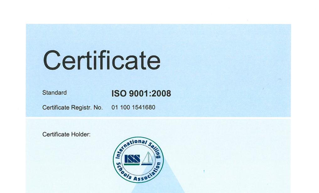 Dział ISSA odpowiedzialny za przetwarzanie i wystawianie certyfikatów otrzymał certyfikat ISO9001