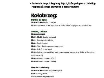 Festiwal Żagli ISSA 2015 Kołobrzeg