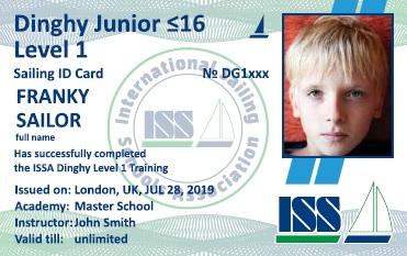 Dinghy Junior ≤16. Level 1